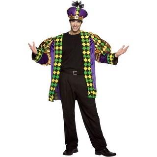 Rasta Imposta Mardi Gras King Adult Costume - Solid - one-size