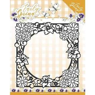 Spring Flowers Square Frame - Find It Trading Precious Marieke Early Spring Die