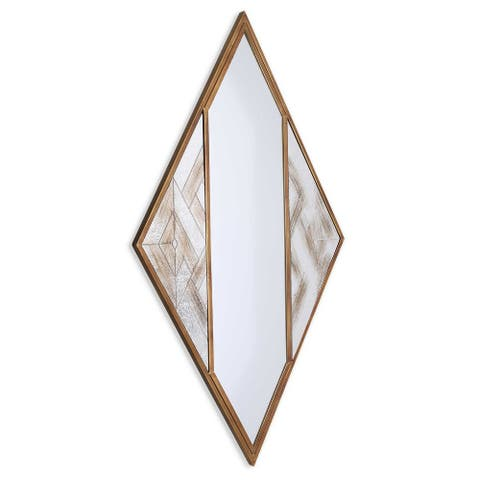 Selles Metal Framed Mirror - Antique White/Antique Brown/Bronze - A/N