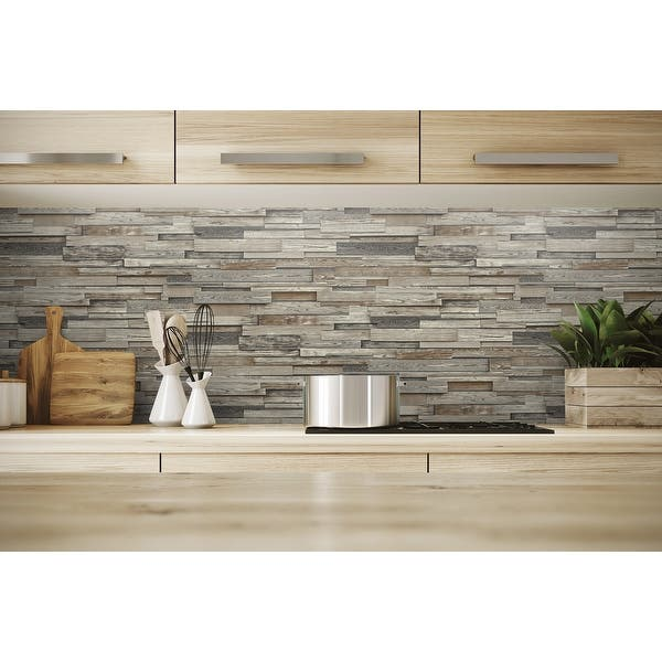 Shop Nextwall Reclaimed Wood Plank Peel And Stick Removable Wallpaper Overstock 31247824