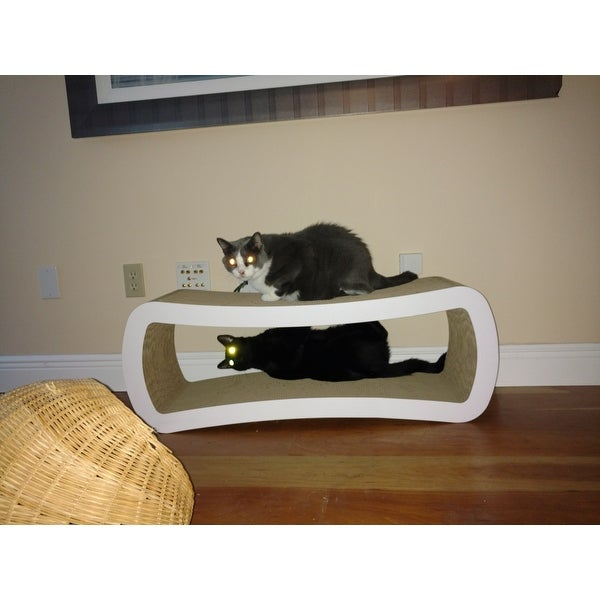 cat scratcher lounge. Shop PetFusion Jumbo Cat Scratcher Lounge - Free Shipping Today Overstock.com 9234619