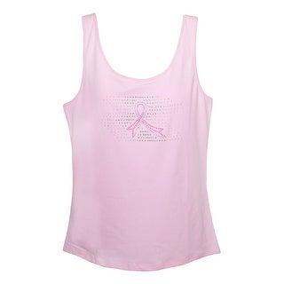 ProCure Pink Ribbon Rhinestone Breast Cancer Awareness Tank