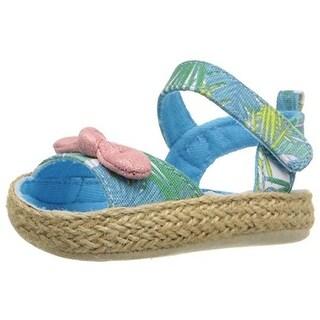 Rosie Pope Kids Footwear Crib Shoes Infant Girls Tropical Print