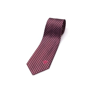Versace Men Slim Silk Neck Tie CR8LSEB0900 0001 Burgundy