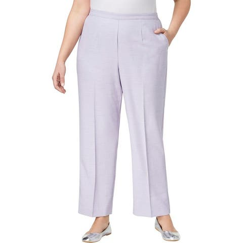 Alfred Dunner Womens Plus Straight Leg Pants Classic Fit Heathered