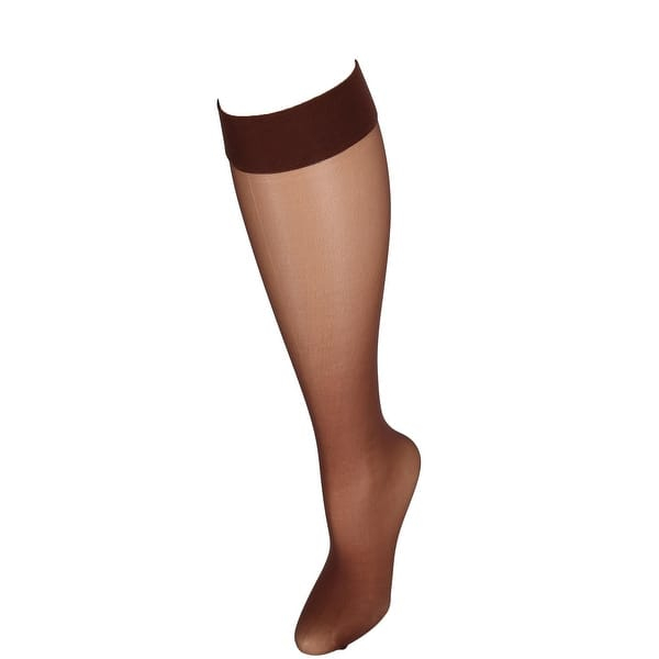 8831d12e7 ... Hanes Silk Reflections Run Resistant Sheer Knee Highs (2 Pair Pack) ...