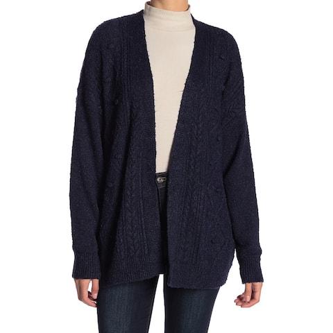 14th & Union Blue Soft Fleece Women's Size XS Cardigan Sweater