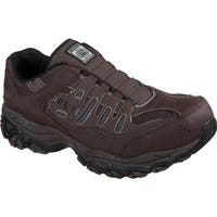 Skechers Men's Work Crankton Ebbitt Steel Toe Shoe Brown
