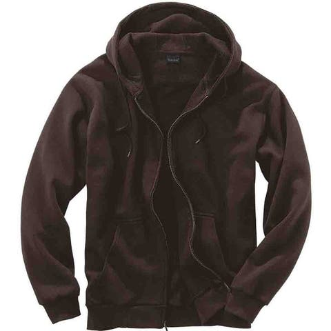 River's End Thermal Lined Zip Hoodie Mens Athletic Sweatshirt -