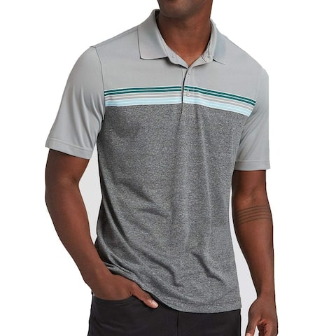Cutter & Buck Mens Shirt Gray Size Small S Striped Polo Short-Sleeve