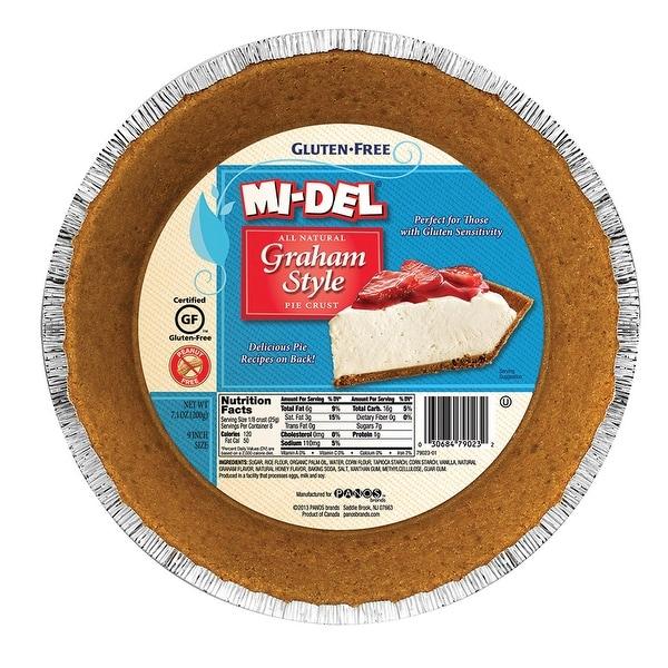 Midel Gluten Free Graham Style Pie Crust - Case of 12 - 7.1 oz.