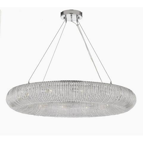 """Crystal Halo Chandelier Modern / Contemporary Floating Orb 41"""" Wide"""