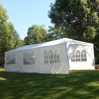 MCombo 10'x30' White Canopy Party Outdoor Gazebo Wedding Tent 8 Removable Walls