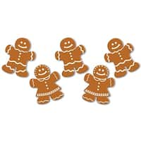 "Pack of 240 Mini Mr. and Mrs. Gingerbread Cutouts Christmas Decorations 5"" - brown"