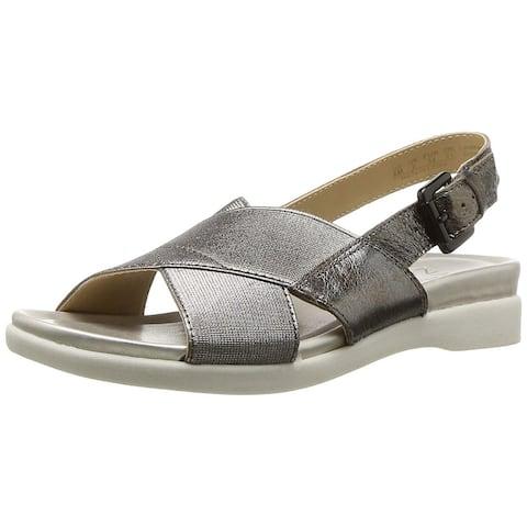 a566ffc7b17a Naturalizer Womens Eliza Leather Open Toe Casual Slingback Sandals