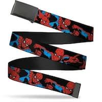 Marvel Comics blank Black  Buckle Spider Man Action Poses Black Web Belt