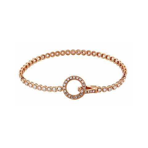 14K Rose Gold 1.56ct TDW White Diamond Tennis Bracelet