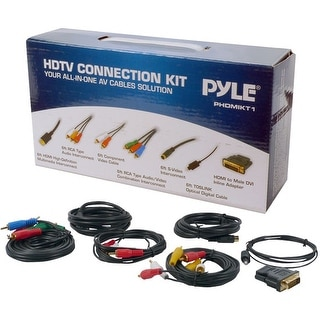 HDTV Audio/Video Cable Connection Kit Compatible w/ Plasma, LCD/LED/DLP/DVD and Audio Players