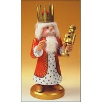 "13.5"" Zims Heirloom Collectibles King Midas Christmas Nutcracker - RED"