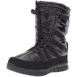 Khombu Womens Alta Closed Toe Ankle Cold Weather Boots