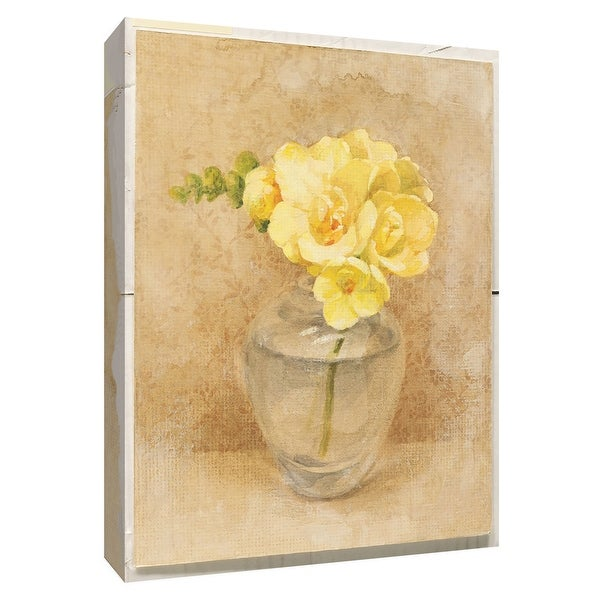 "PTM Images 9-154587 PTM Canvas Collection 10"" x 8"" - ""Freesia Blossom in Glass"" Giclee Flowers Art Print on Canvas"