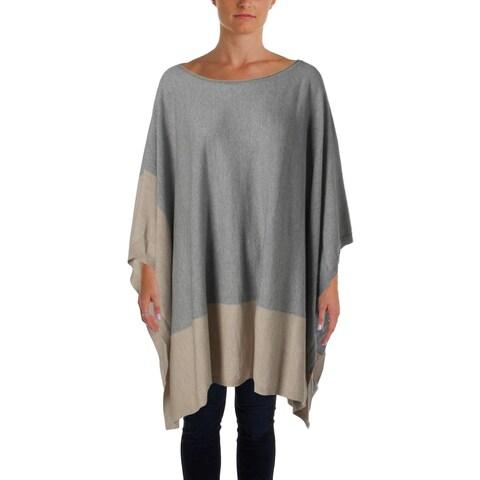 Eileen Fisher Womens Poncho Sweater Asymmetric Merino Wool - o/s