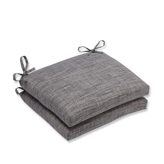 "18.5"" Taupe and Gray Chestnut Harbor Outdoor Patio Squared Corners Seat Cushion"
