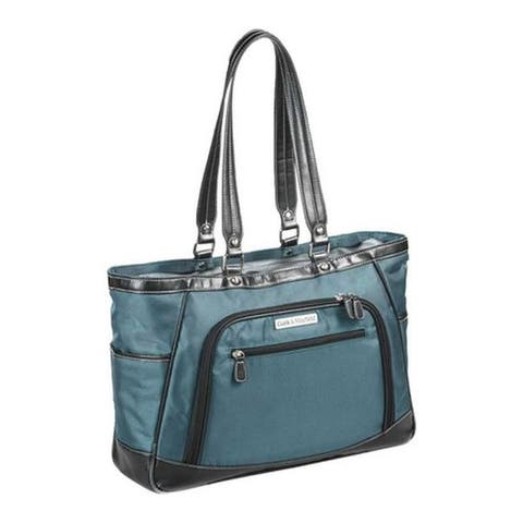 """Clark & Mayfield Women's Sellwood Metro XL Laptop Tote 17.3"""" Deep Teal - US Women's One Size (Size None)"""