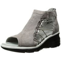 Jambu Womens Naomi Leather Open Toe Casual Platform Sandals