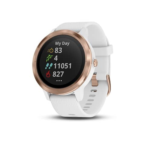 Garmin vivoactive 3 Multisport GPS Watch (White w/ Rose Gold) - White / Rose Gold