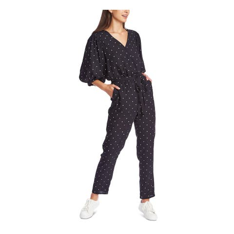 1. STATE Navy 3/4 Sleeve Straight leg Jumpsuit Size XL