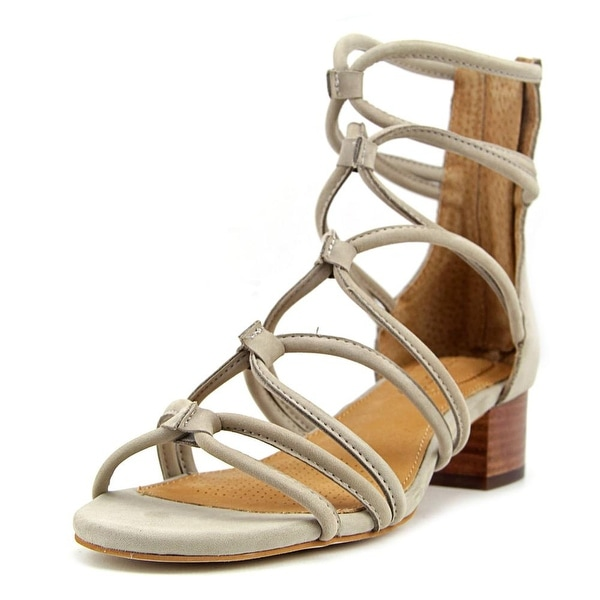 Corso Como Jenkins Women Open Toe Leather Gray Sandals