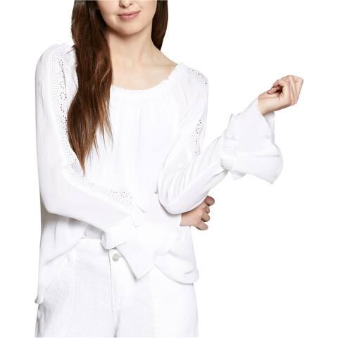 Sanctuary Clothing Womens Eyelet Sleeve Peasant Blouse