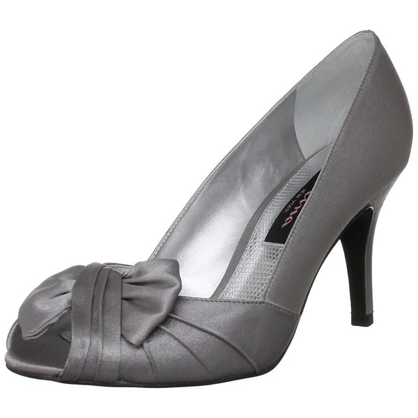 Nina NEW Silver Women's Shoes Size 9.5M Forbes Open Toe Pump