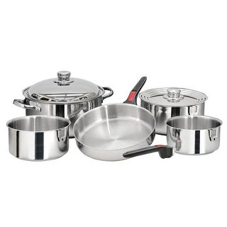 Magma 37223M MAGMA NESTABLE 10 PIECE S.S. COOKWARE SET