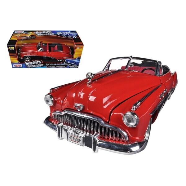 1949 Buick Super Custom Review: Shop 1949 Buick Roadmaster Red/Black Custom 1/18 Diecast