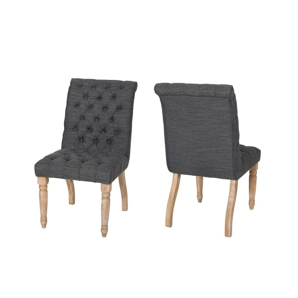 Fieldmaple Tufted Dining Chair Set Of 2 By Christopher Knight Home Overstock 27569117