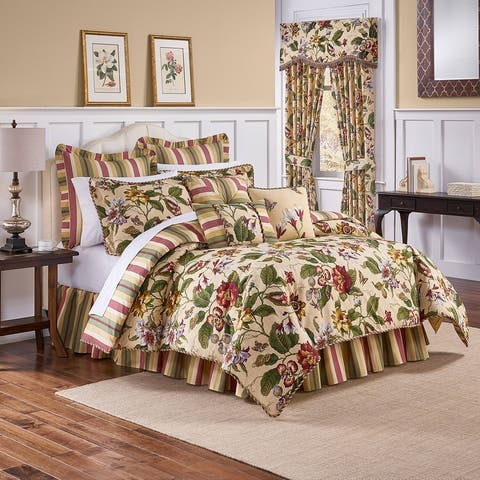 Waverly Laurel Springs King 100-percent Cotton 4-piece Comforter Set