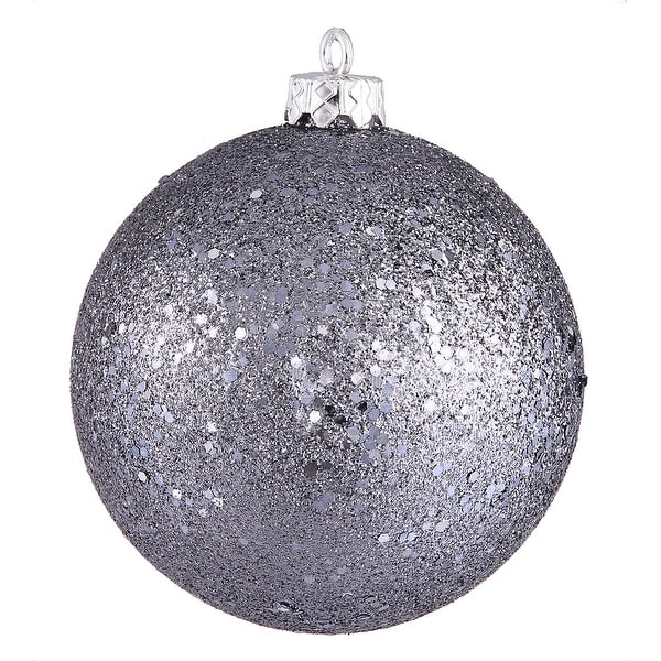 """4"""" Pewter Sequin Finish Ball"""
