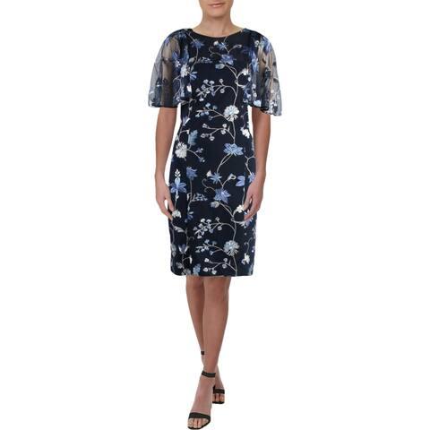 Lauren Ralph Lauren Womens Roxi Cocktail Dress Short Floral