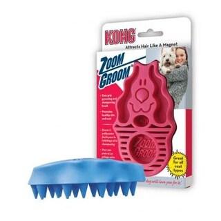 Kong Zoomgroom Rubber Brush Raspberry