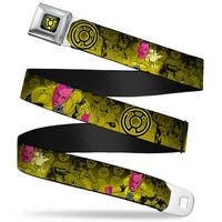 Sinestro Corps Logo Full Color Black Yellow Sinsestro Poses & Logo Green Seatbelt Belt