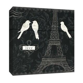 "PTM Images 9-152096  PTM Canvas Collection 12"" x 12"" - ""Love Paris I"" Giclee Birds Art Print on Canvas"