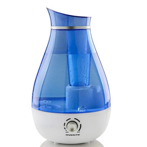 Ovente Ultrasonic Water Cool Air Mist Machine, 20 Watts, Blue HMD625BL - 2.5 Liter