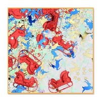 Pack of 6 Red, Gold and Blue Festive Christmas Night Celebration Confetti Bags 0.5 oz.