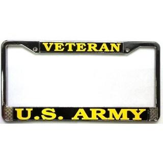 U.S. Army Veteran License Plate Chrome Metal Frame