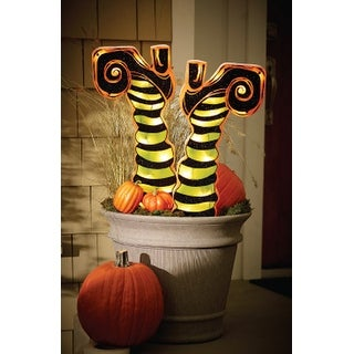"""Impact Innovation 82601 Halloween Lighted Witches Legs, 21-1/4""""L x 2""""W"""