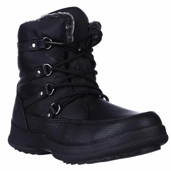 Weatherproof Tara Lace-Up Winter Boots, Black - 6 us