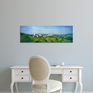 Easy Art Prints Panoramic Image 'Landscape with Chateau Gailard, Les Andelys, Normandy, France' Canvas Art