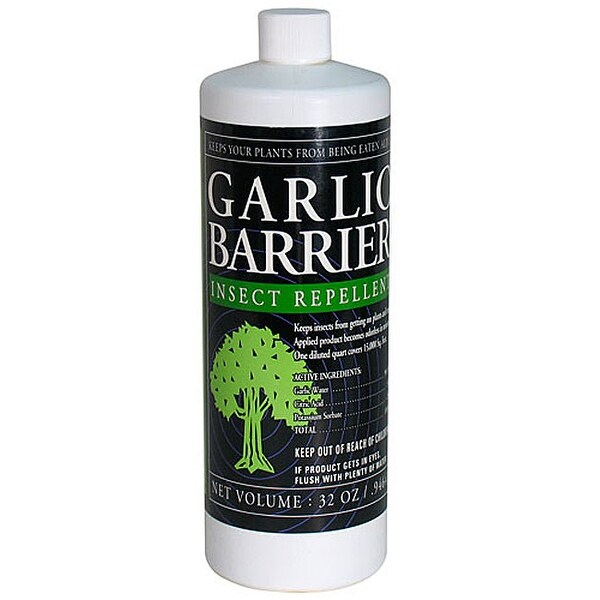 Insect Repellent Garlic Barrier Liquid Concentrate 32 Ounce Size
